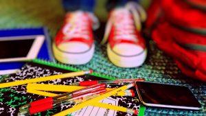 school shoe shopping